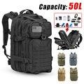 Военный тактический рюкзак для мужчин, уличный Водонепроницаемый ранец большой вместимости 50 л, 3P, с мягкой спинкой, для походов, кемпинга, о...
