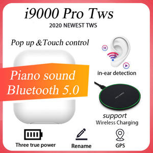 Original i9000 Pro 1:1 TWS Bluetooth 5.0 Earphones Wireless Bluetooth Headphone 8D HiFi Stereo Sport Headset With Microphone