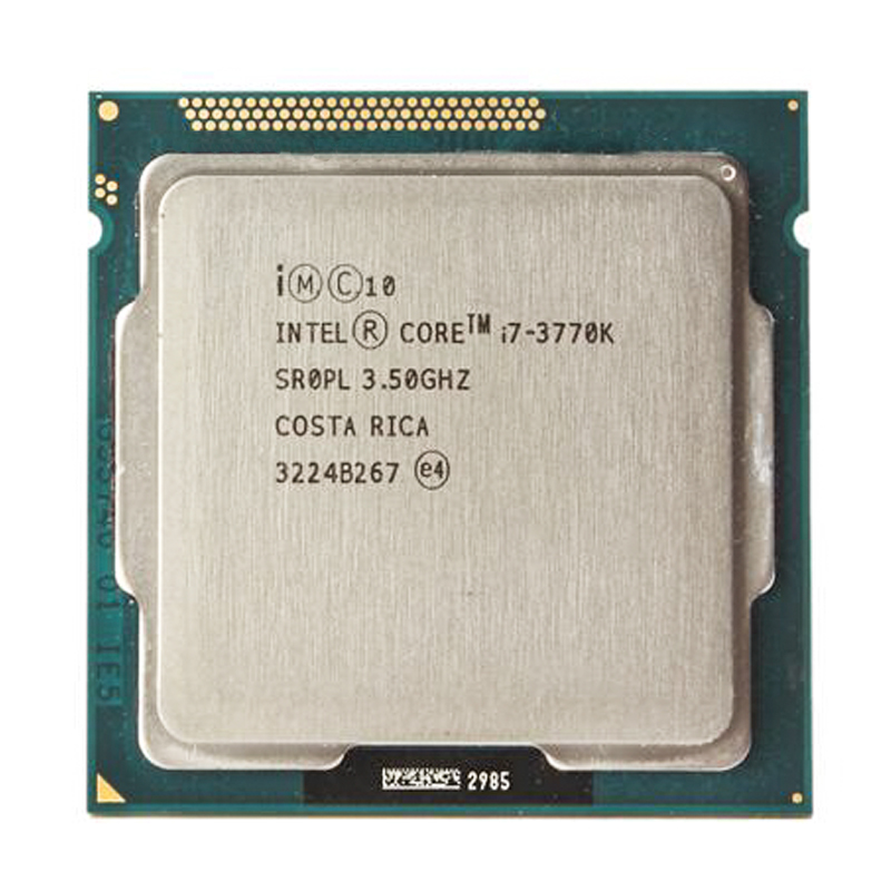 Intel i7 3770K Quad Core LGA <font><b>1155</b></font> 3.5GHz 8MB Cache With HD Graphic 4000 TDP 77W Desktop CPU i7-3770K image