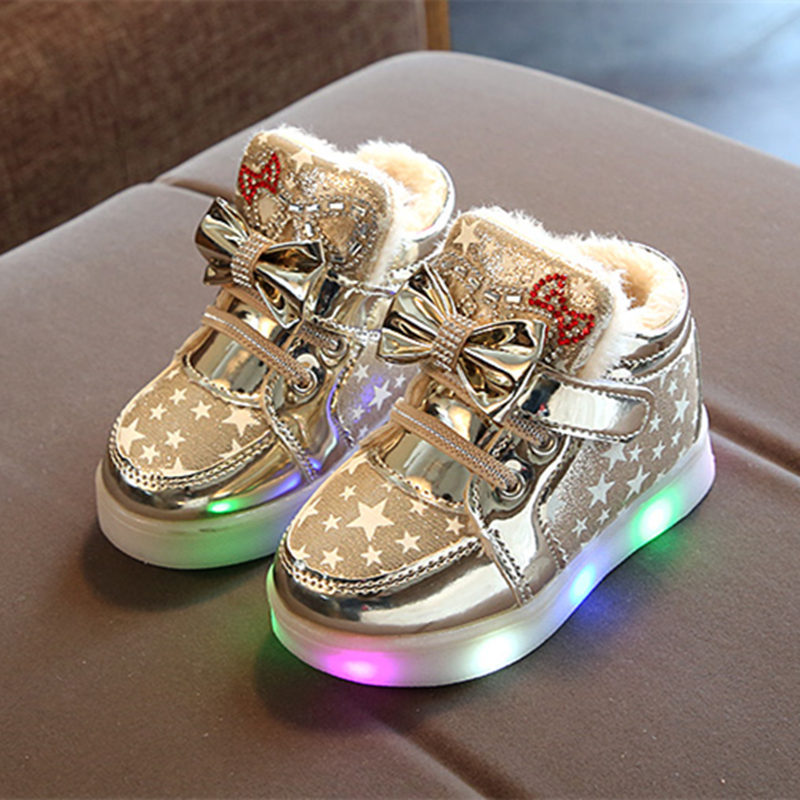 Casual Colorful Light Star Luminous Boots 6