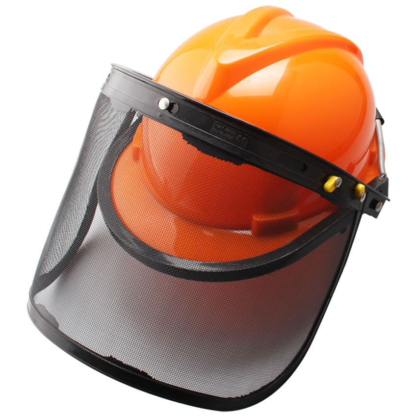 Forestry Safety Helmet With Wire Mesh Protective Mask, Chain Saw Helmet Forest Head Protection Helmet Heavy Duty Hard Hat