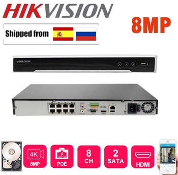 HIKVISION 8/16 CH CCTV System DS-7608NI-K2/8P with 8POE Port & DS-7616NI-K2/16P with 16POE Port 4K NVR with 2 SATA Interfaces