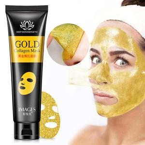 Gold Collagen Peel Off Mask Face Tear off Whitening Lifting Firming Skin Anti Wrinkle Anti Aging Facial Mask Black Head CareTSLM