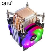QITU 6 Caloducs REFROIDISSEUR DE PROCESSEUR 3 broches 4 broches PWM 92mm PC ventilateur SILENCIEUX Pour Intel LGA 2011 2066 E3 E5 X79 X99 X299 9CM CPU Ventilateur DE REFROIDISSEMENT