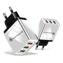 18 ワット急速充電 3.0 EU 米国 5V 3A 高速充電携帯電話の Usb 充電器 iPhone 11 プロ最大 Huawei 社メイト 30 プロ旅行充電器