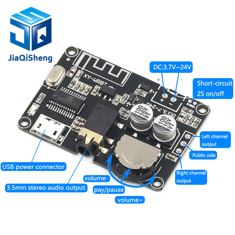 Bluetooth Audio Receiver Board Bluetooth 5.0 Mp3 Lossless Decoder Board Wireless Stereo Music Module XY-WRBT