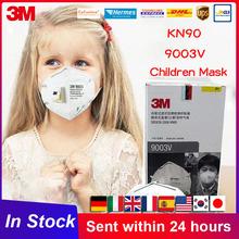 KN90 3M 9003V usta maska dzieci Kid maska maski bezpieczeństwo jednorazowe pojedynczy pakiet zawór filtr maska dziecko maska dla dzieci tanie tanio Chin kontynentalnych Osobiste Jeden raz Non-woven 3M 9003V Mask NONE MS120 GB2626-2006