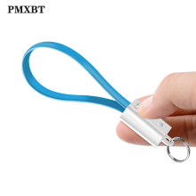 Keychain USB Cable For iPhone Samsung Charger Power bankMicro Type C KeyChain Accessory Portable Charging Cord Cables