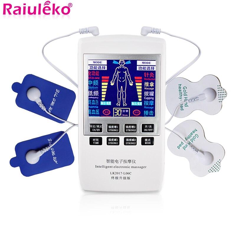 Zehn Schröpfen Akupunktur EMS Muscle Stimulator Multi-Funktion Elektrische Massager Dual Frequenz Physiotherapie Massage Maschine