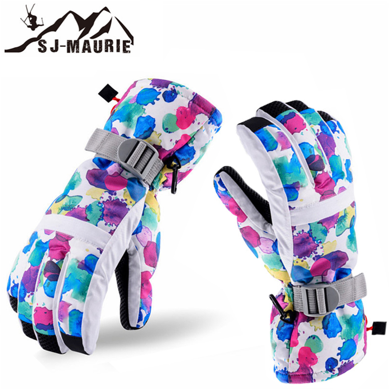 SJ-Maurie Windproof Esquiar Waterproof Winter Ski Gloves Adult  Warm Skiing Hiking Snowboard Gants De Ski Gloves