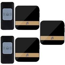 Samrt Wireless Doorbell 300M range 52 chimes Home Call Bell Doorbell 1 2 Buttons 1 2 3 Receivers EU/AU/UK/US optional