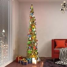 1,5 м DIY Блестки Рождественская елка всплывающая Складная мишура искусственная Рождественская елка с подставкой рождественские украшения деревья