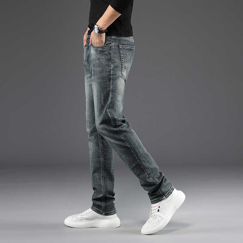 Male Jeans Homme Skinny Slim Jean Stretch Casual Pants Biker Denim Trousers Pant Men'S Straight Fashion Streetwear Jogger