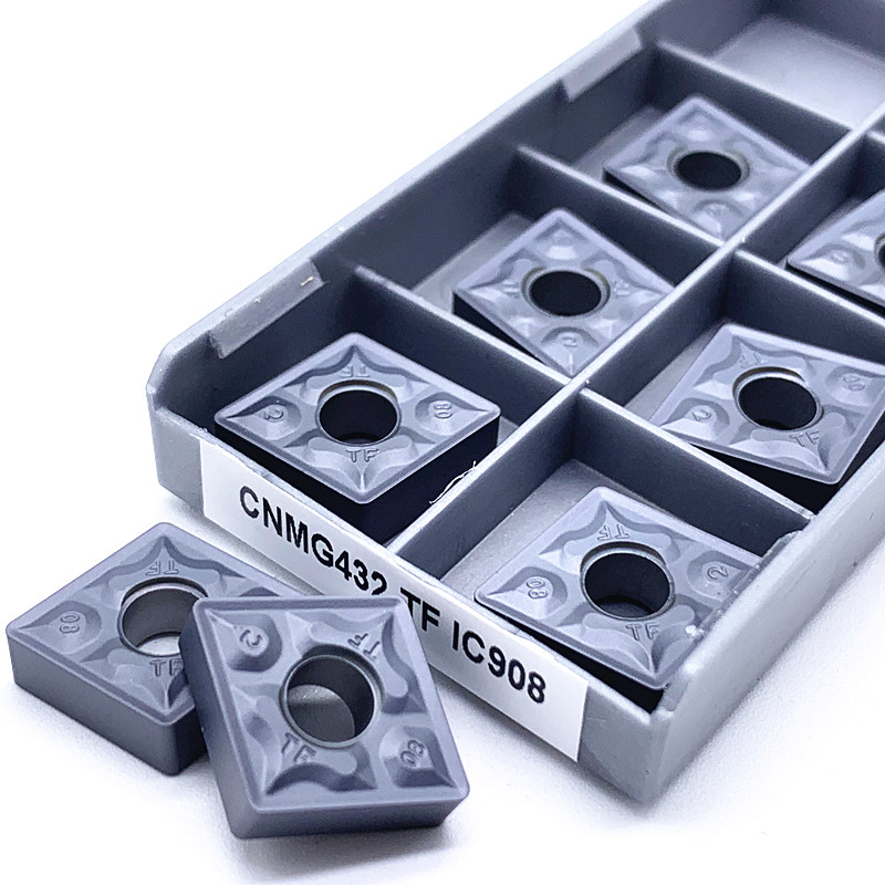 100Pcs CNMG120408-TF IC907 CNMG432-TF IC907 CNC Carbide Inserts for steel