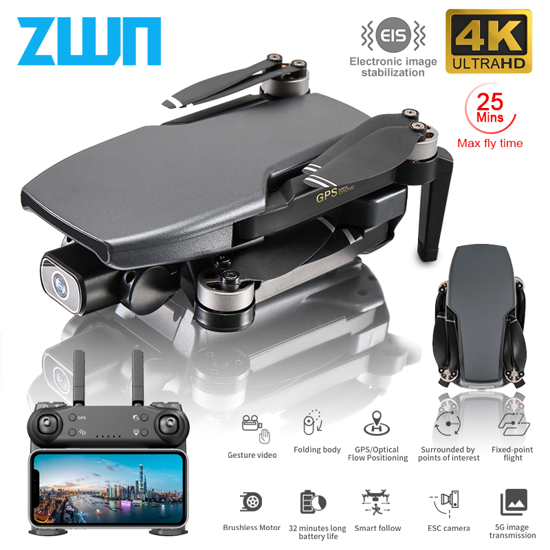ZWN SG108 GPS Drone with 5G Wifi FPV 4K HD Dual Camera Brushless Optical Flow RC Quadcopter Follow Me Mini Dron vs L108 EX5 1