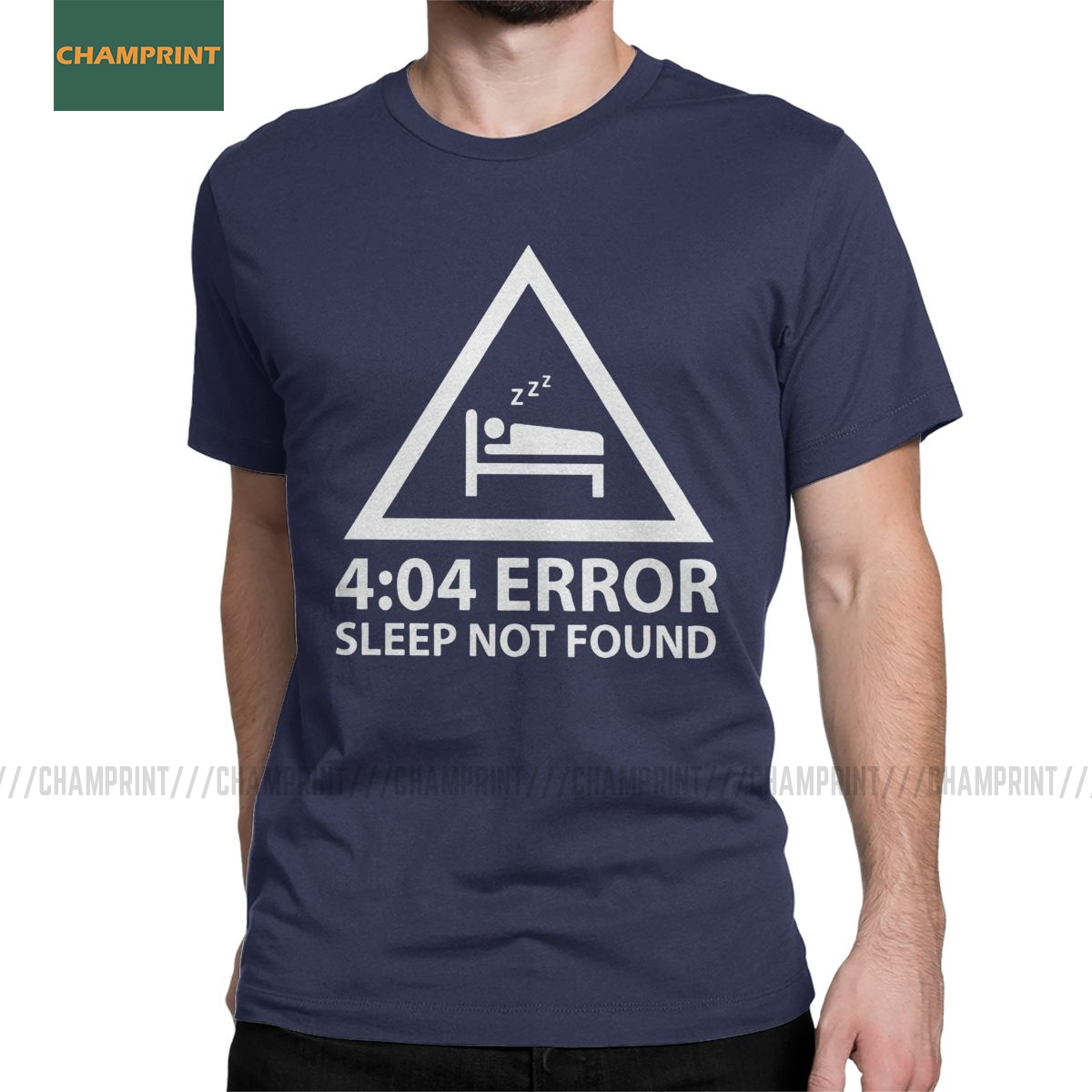 Men's T-<font><b>Shirts</b></font> <font><b>404</b></font> <font><b>Error</b></font> Sleep Not Found Programmer Cotton Tees Short Sleeve Programming Coding Software Web Coder T <font><b>Shirts</b></font> image