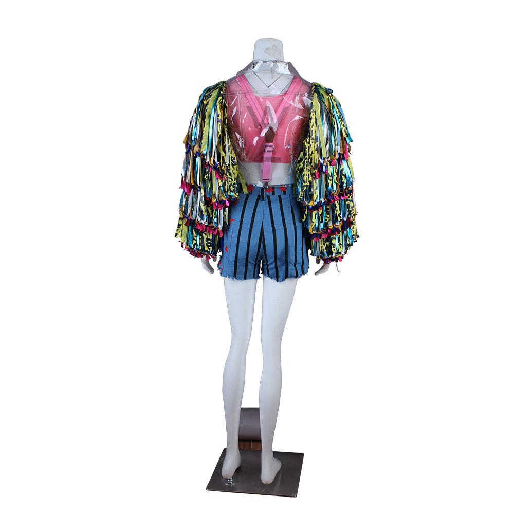 2020 Popular Jacket Harley Quinn Cosplay Costume Birds Of Prey Women Tassel Coat Ebay