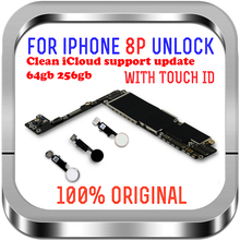 Чистый iCloud для iPhone 8 Plus материнская плата 64 Гб 256 ГБ разблокирована для iPhone 8 Plus логическая плата с сенсорным идентификатором с чипами MB LTE 4G