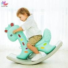 Rocking-Chair Ride Kids Plastic Balance for Toy Kindergarten Giraffe Thickening Baby