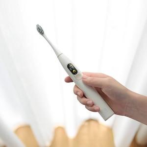 Image 5 - أوكلين X فرشاة أسنان كهربائية بالموجات الصوتية رؤساء ترقية مستشعر بالموجات فوق الصوتيّة مقاوم للماء فرشاة أسنان أوتوماتيكية USB قابلة للشحن