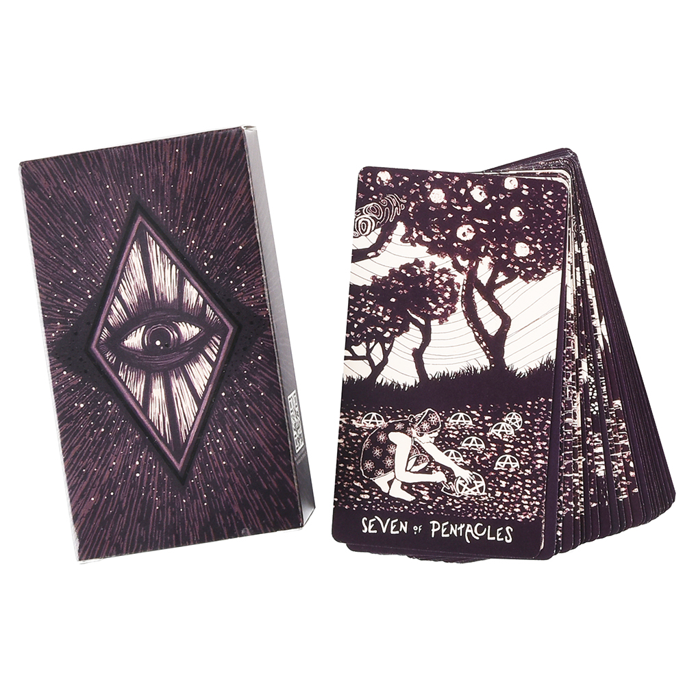 78 Tarot Cards Deck English Light Visions Cards Deck Oracles Electronic Guide Book Game Toy Divination Board Game