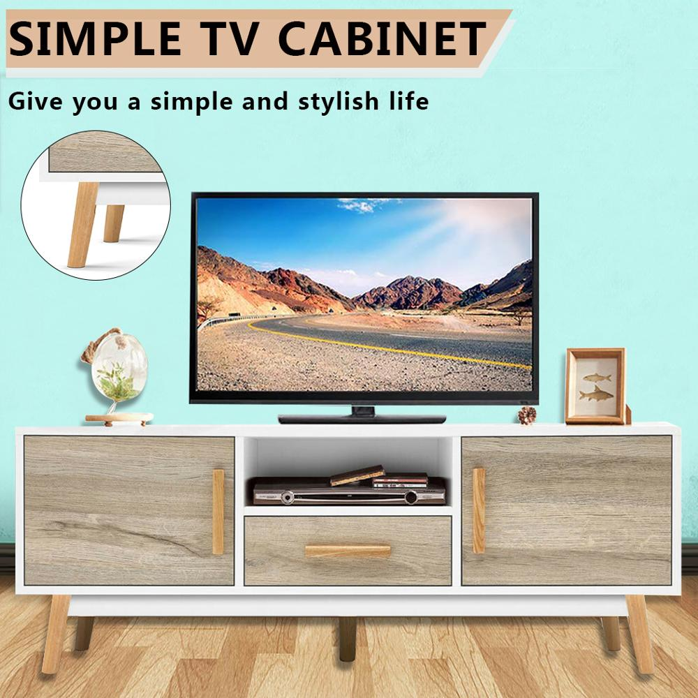 TV CabinetBedroom Study Living Room Office Etc White Portable Detachable TV Stand Cabinet Console With Drawers Table AU Shipping