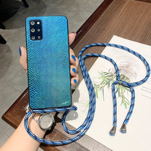Strap Case For Samsung Galaxy A52 A32 A72 5G A51 A71 A70 A12 M51 M31S A42 A21S Necklace Lanyard Crossbody Snake Silicone Cover