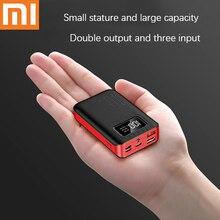 Xiaomi Mini power Bank с тремя входными портами, двойной USB внешний аккумулятор, быстрая зарядка для iphone, xiaomi, портативное зарядное устройство, power Bank