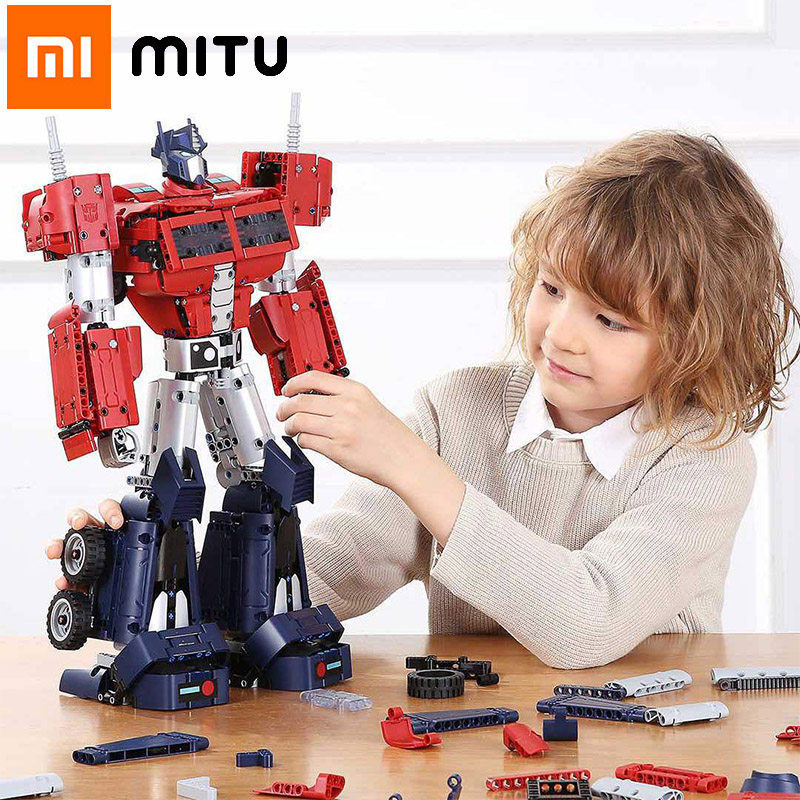 MITU Xiaomi Building Blocks Transformers Optimus Prime Full Body Joint Movable Autobots Lego Mi Constructor Parts Gift Kids Toy