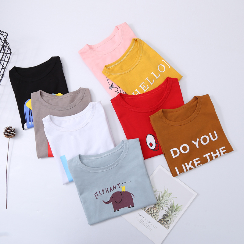VIDMID New Baby Girls Boys T-Shirts tees children Cotton Short Sleeve tees Kids T-Shirts Child cartoon Clothing Tops 7070 02 3
