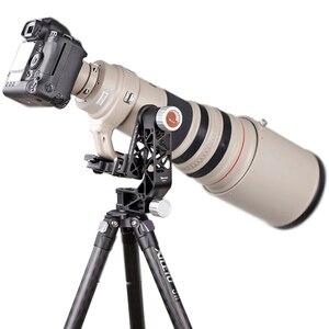 Image 5 - XILETU XGH 2 Pro Heavy Duty Aluminum alloy Gimbal Tripod Head Stabilizer Quick Release Plate for Telephoto Lens photography bird