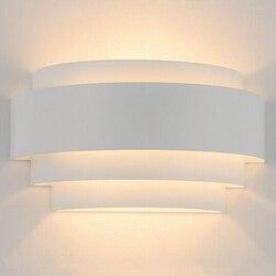 Nordic nowoczesny doprowadziły światła na ścianie oświetlenie wewnętrzne oszczędność energii E27 żarówka biały światło ciepłe światło sypialnia salon