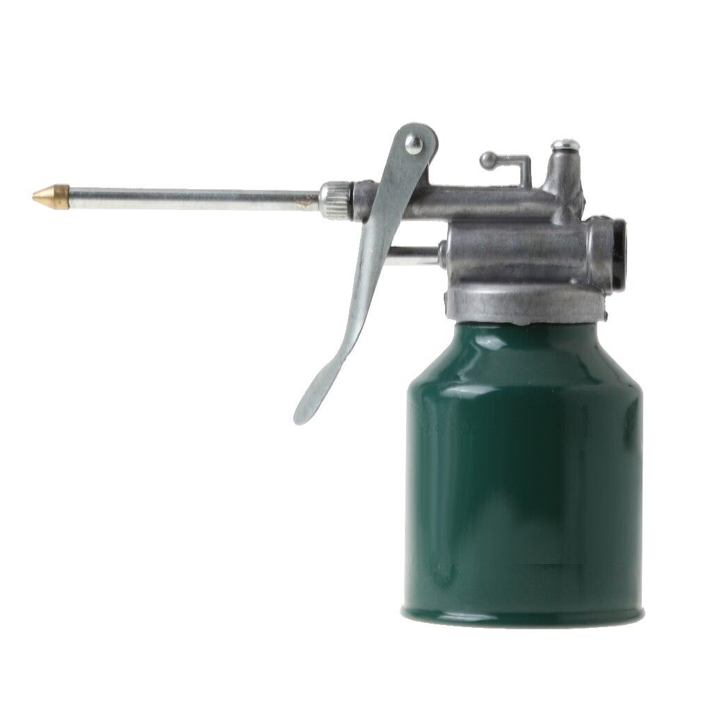 250ml zasobnik do oleju samochód Mini wysokociśnieniowa maszyna pompująca olejarka zasobnik do oleju metalowy pistolet do smarów olejarka butelka na oliwę z rozpylaczem zasobnik do oleju z tworzywa sztucznego