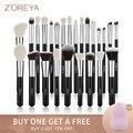Набор черных кистей для макияжа Zoreya 8-25 шт Набор теней для век Кисть для нанесения румян консилер контур смешивание классический