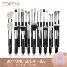 Zoreya 8-25 stücke Schwarz Make-Up Pinsel Set Kit Lidschatten Foundation Powder Blushes Pinsel Concealer Contour Blending Klassische