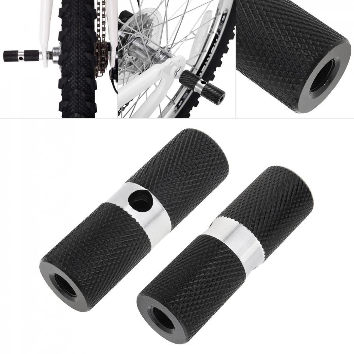 1 пара велосипедная педаль алюминиевая Нескользящая Передняя Задняя ось подножки BMX подножка рычаг цилиндр Аксессуары для велосипеда
