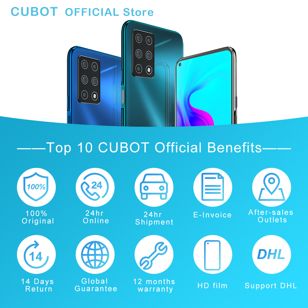"""Cubot X30 Smartphone 48MP Five Camera 32MP Selfie 8GB+256GB NFC 6.4"""" FHD+ Fullview Display Android 10 Global Version Helio P60 5"""
