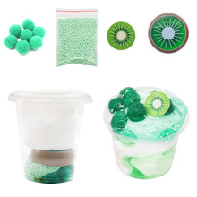 Ice Cream Slime Kit Super Light Clay Cotton Mud DIY Fruit Squishy Crystal Charms Reduce Pressure Children Toys Soft