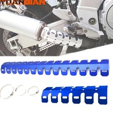 Exhaust Muffler Pipe Heat Shield Protector Guard for yamaha DT125R DT125 RL XJ 550 650 XZ550 TW125 DT125RE XS 650 750 1100 RD400(China)