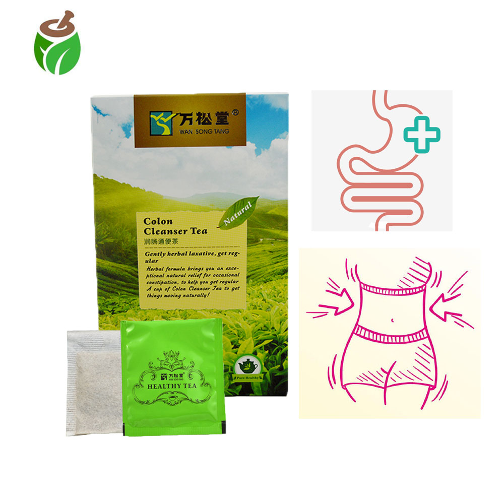 40 Pcs/2 Packs Colon Cleanser Tea Chinese Natural Healthy Care Tea Clean Up Intestinal For Body Diet Tea Bowel Cleansing