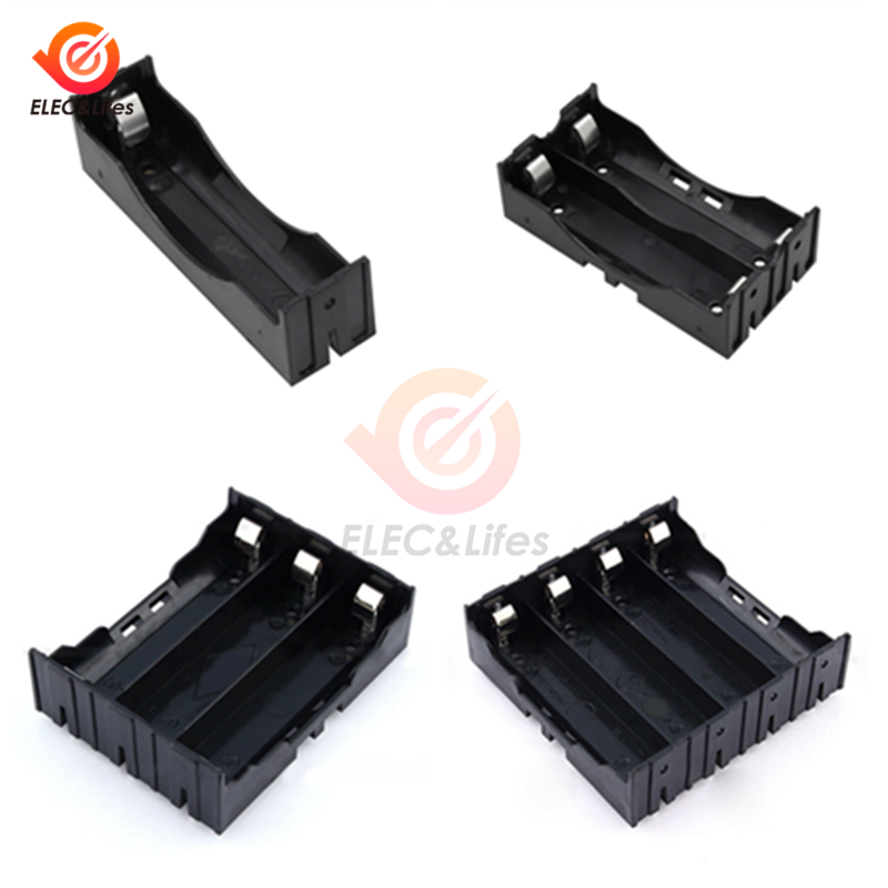 1 2 3 4 Slot ABS 18650 Power Bank Case 1X 2X 3X 4X 18650 lithium Battery Holder Storage Box Case Batteries Container