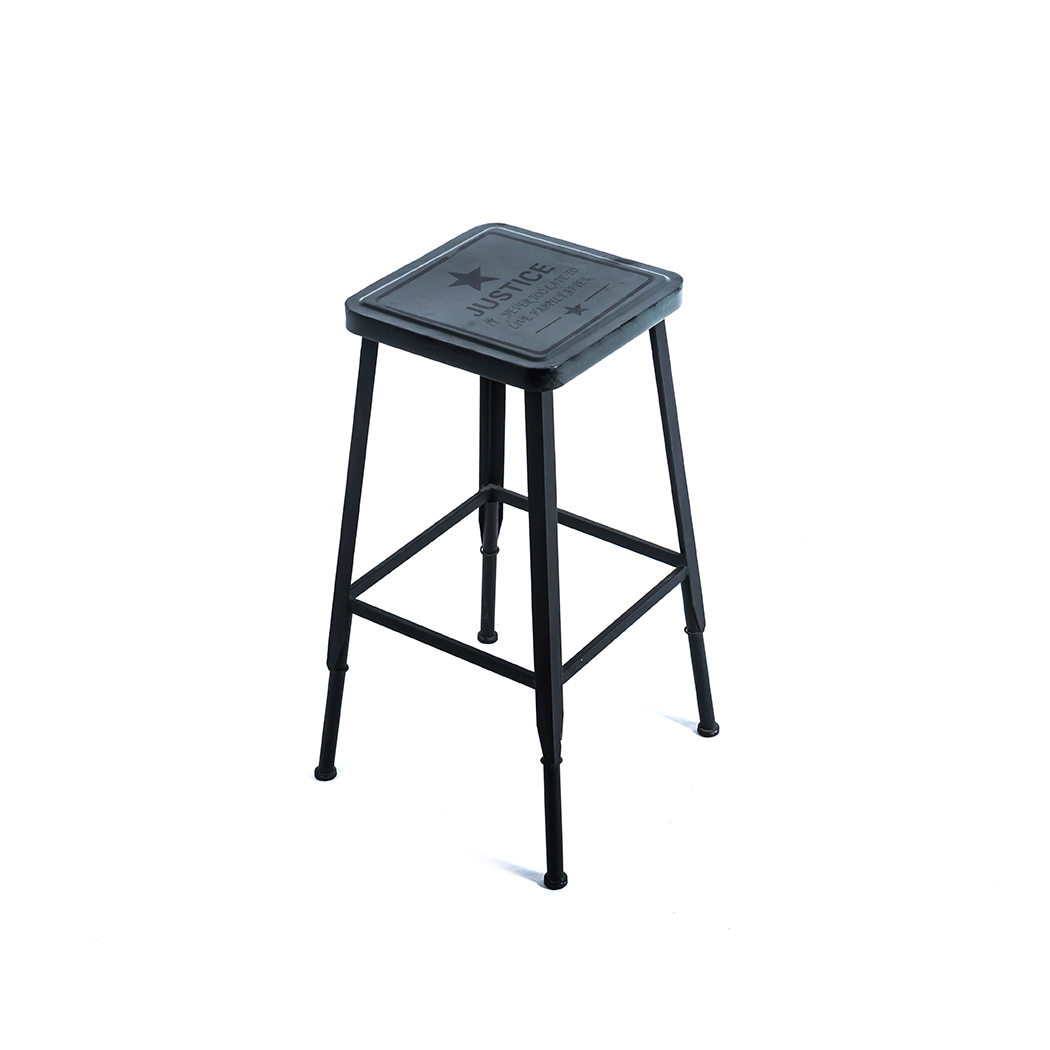 2/4PCSBar StoolFashion Contemporary Stunning Look Metal Steel Structure Counter Bar Stool Kitchen Home Anti Slip Floor Protector