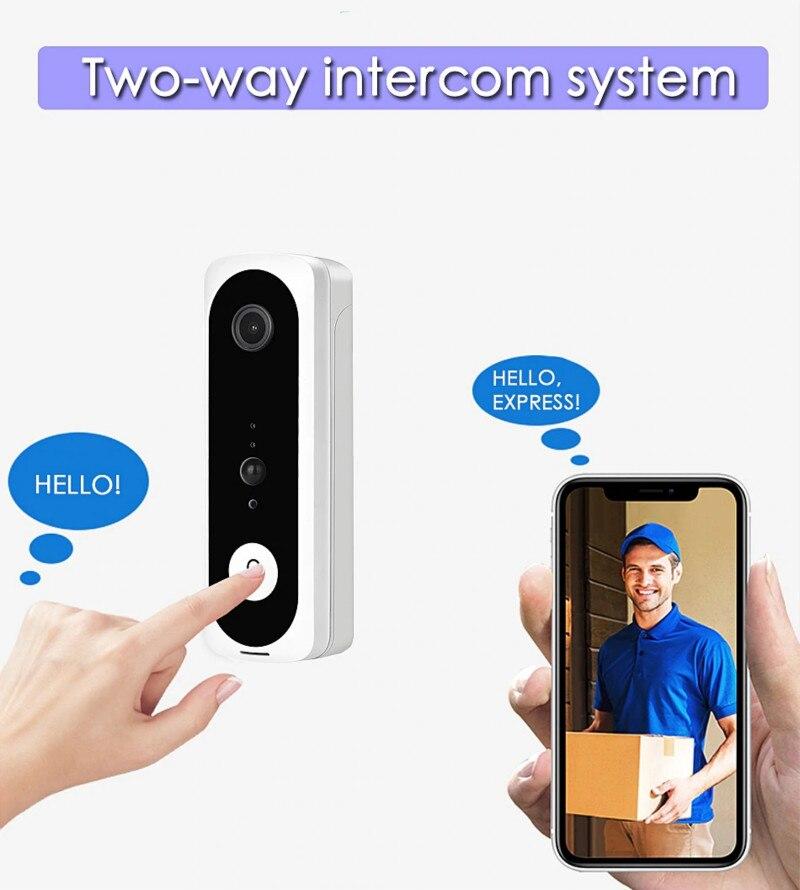 Smart WiFi Video Doorbell Camera V20 1080P HD Video Visual Ring Intercom With Night Vision IP Door Bell Security Camera Doorbell