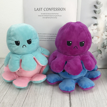 Funny Cute Little Octopus Doll Double-sided Flip Octopus Plush Toy For Kids Doll Marine Life Doll Plush Toy With Realistic Expre premium new 1pc cute marine life octopus baby plush toy doll octopus multicolor optional dolls