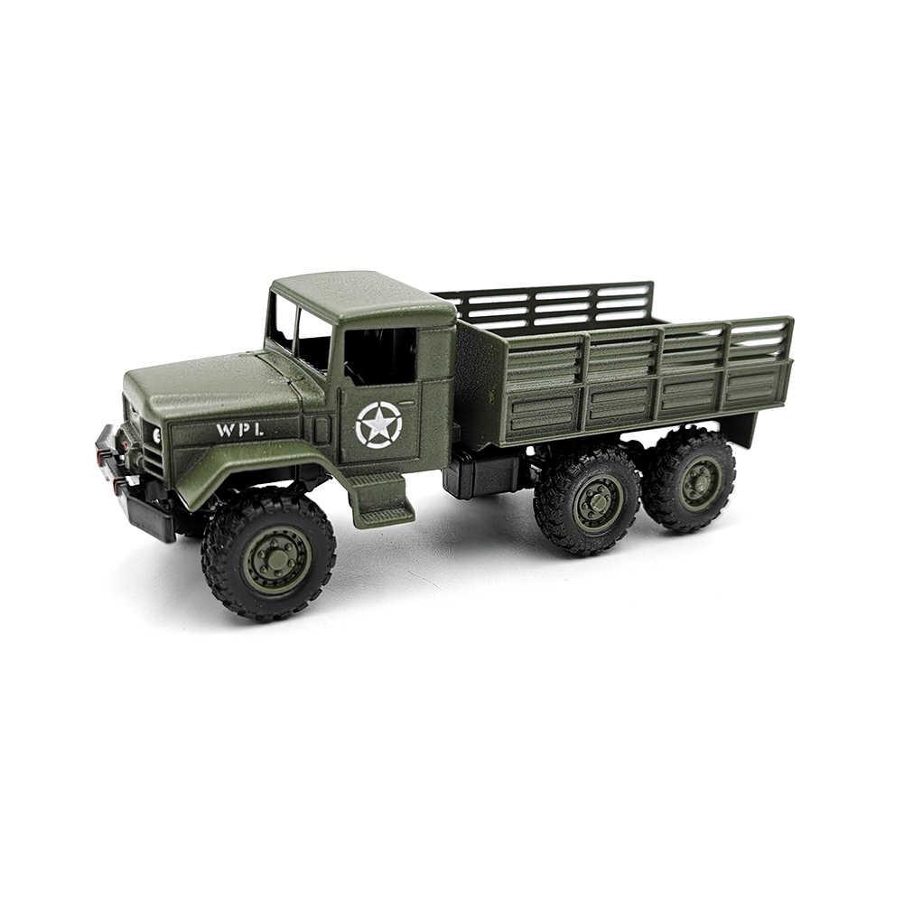 Original 1//64 WPL MB16 Alloy Car Model High Simulation Tactical Military Truck