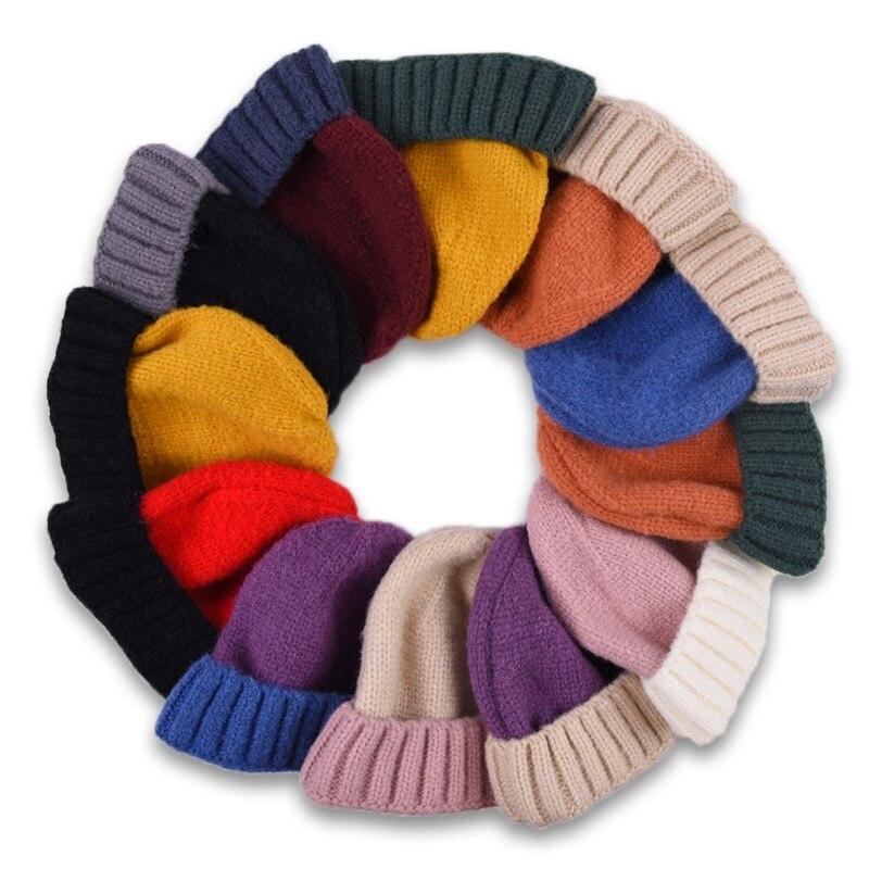 Beanie Hat Knitted-Hat Korean-Version Winter Fashion Keep-Warm Children's WZCX Crimping-Splice