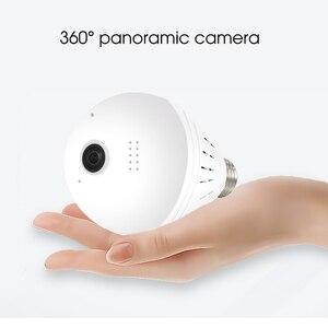 Image 3 - Kebidumei 360 학위 1080P IP 카메라 Fisheye 파노라마 감시 보안 카메라 와이파이 나이트 비전 전구 램프 카메라