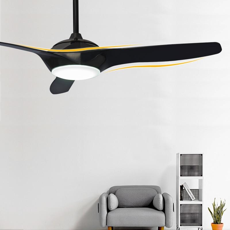Модные потолочные вентиляторы 52 дюймов, потолочный светильник с дистанционным затемнением для гостиной, спальни, дома, потолочный светильн