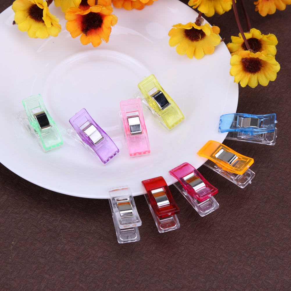 25pcs Needle Clips Holder for DIY Patchwork Fabric Craft Sewing Knitting Clips Quilting Crafting Crocheting Knitting Safety Clip