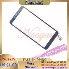 Digitalizador de pantalla negro probado para BQ Mobile BQ 5518G Jeans Touch digitalizador de pantalla Sensor panel de cristal + seguimiento
